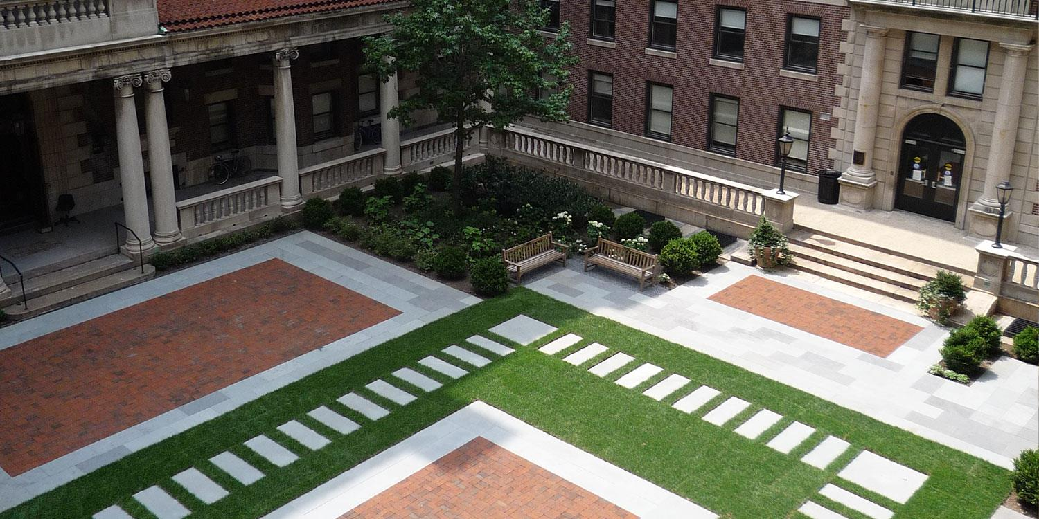 Overhead shot of the Quad